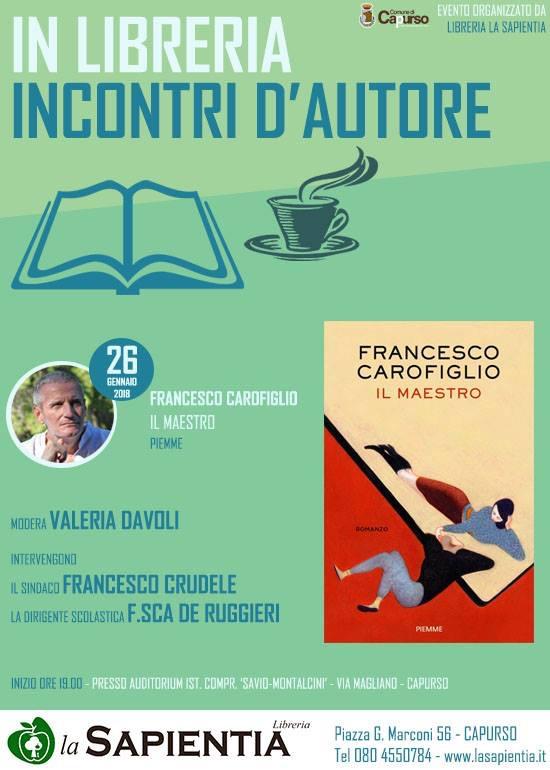 Francesco Carofiglio – presenta 'IL MAESTRO'